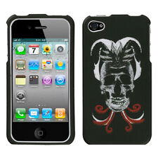 For iPhone 4s/4 Lizzo Skull Joker Hard Snap On Phone Protector Cover Case