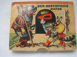 """Pop-Up """"Der gestiefelte Kater"""" - Kubasta, Artia Verlag 1960 -über Carlsen-Verlag"""