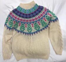 Forenza Italy Soft Knit 45% Mohair Sweater Icelandic Style Womens Size Medium