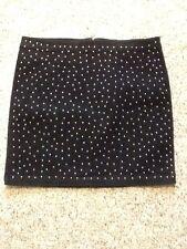 BONGO Size 11 Blue Denim Studded Stretch Skirt NEW