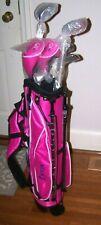 New listing Lynx Girls Jr Golf Clubs Set PINK Bag 5 Clubs new w/o box. Stand bag, covers etc