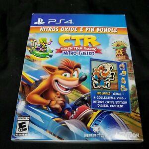 Crash Team Racing With Nitros Oxide DLC and 4 Pin Bundle PS4 Playstation 4 New