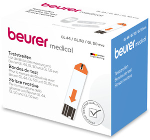 Beurer Blood Glucose Test Strips For GL44 GL50 GL50-EVO (x50)