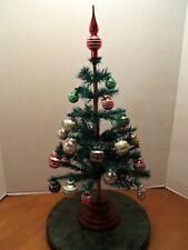 Feather Tree w/ Radko Shiny Brite set of 20 Glass Christmas Ornaments & Topper