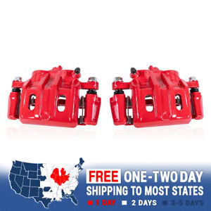 Front Red Performance Brake Calipers Pair Set For 2003 2004 FORD MUSTANG BASE GT
