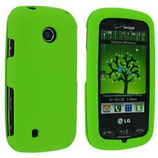 Lime Green Snap-On Hard Case for LG Cosmos Touch VN270 Attune UN270 Beacon MN270