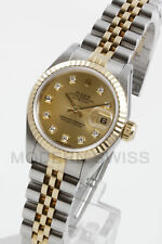Rolex Ladies Datejust Gold & Steel Champagne Diamond Jubilee 6917 2 Tone 2YR
