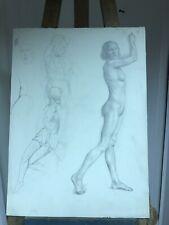 1930's Pencil Human Body Drawings. R.R.Sherrin. Royal Academy.