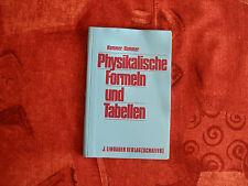 Physikalische Formeln und Tabellen - Lindauer Verlag