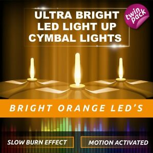 LIGHTENING BOLTZ- MEGA BRIGHT ORANGE LIGHT UP CYMBAL LIGHT VIBRATION SENSITIVE