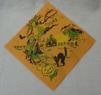 Halloween Three Witches And Black Cat  Paper Napkin 5 Inches Across
