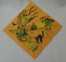 Halloween Three Witches And Black Cat   Paper Napkin