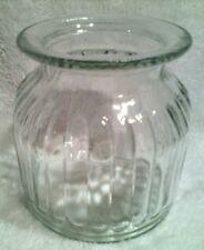 "RARE VTG VERY THICK GLASS VASE 6""X5 1/2"" UTENSIL HOLDER KITCHEN VASE INSULATOR ?"