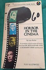 Horror In The Cinema By Ivan Butler 1972 Second Printing Paperback Horror Movies