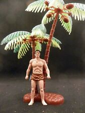 Classic Tarzan Figurine Playset Figure 2.5 In With Palm Trees Marx Mpc