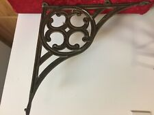 Large Antique Ornate Iron Metal Sign Holder Bracket Hanger Scroll