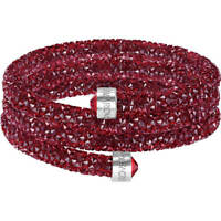 NIB $129 Swarovski Crystaldust Wide Bangle Triple Bracelet Red Size M #5419214