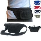 Fanny Pack Purse Travel Pouch Money Passport ID Zipper Waist Belt Bag 3 Pockets