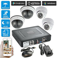 4CH CCTV DVR Surveillance Security System,outdoor 720P AHD Camera Night Vision