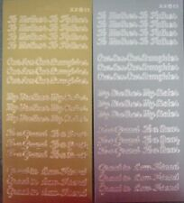 Dovecraft Mixed Family Gold /& Silver Pack Peel Offs for cards and crafts