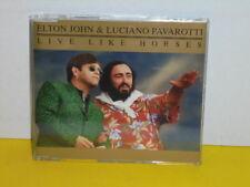 MAXI CD - ELTON JOHN & LUCIANO PAVAROTTI - LIVE LIKE HORSES