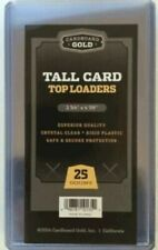 CARDBOARD GOLD  CARD HARD HOLDERS 5 PKS OF 25 EACH = 125 HOLDERS