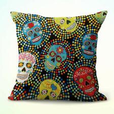 b371c001eb4cf US Seller- decorative pillow case sugar skull day of dead Mexcian cushion  cover