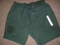 England Shorts Umbro Goalkeeper JOE HART Adult Small Football Soccer Green Shirt