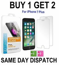 100%25 GENUINE TEMPERED GLASS FILM SCREEN PROTECTOR FOR APPLE IPHONE 7 PLUS - NEW