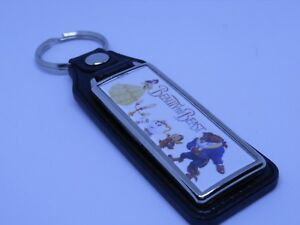 DISNEY'S BEAUTY AND THE BEAST KEYCHAIN DISNEY BELLE MRS. POTTS LUMIERE CHIP