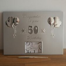 50 50th Birthday Guest Book Guestbook Keepsake with Pen