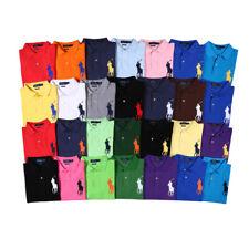Mens Ralph Lauren Poloshirt Short Sleeve Custom Fit Big Pony Polo Shirt S-XXL
