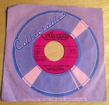 Platters 45 I Love You A Thousand Times / With This Ring  reissue  NM