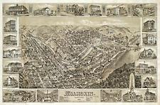 Shamokin Pennsylvania c1884 panoramic map 16x24
