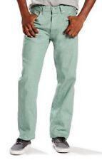 NWT Levi's 501 Shrink-To-Fit Trellis Green White Oak Denim Jeans Men's W42 L32