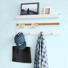 SoBuy® Set de 1 Étagère pr cadres photos,1 Tableau,1 Porte-manteaux,FRG139-W FR