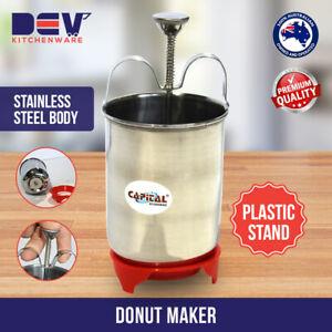 Donut Maker Dispenser Dropper Stainless Steel DONUTS, Doughnuts MAKER & Stand