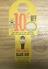 Black Cow Cardboard Bottle Topper