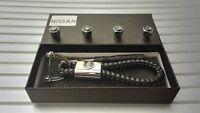 Nissan Luxury leather keyring keychain fob Gift box