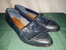 Women's Arpeggios VTG Blue Leather Kilties Shoes Sz 7 1/2M