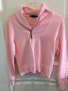 (Reduced Price) Ralph Lauren Sport Half Zip Pink Pullover Womens Medium