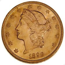 1896 $20 Gold Coin Liberty Head Double Eagle in Choice BU Condition