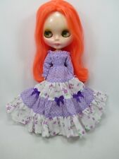 Blythe Outfit Handcrafted long sleeve dress basaak doll # 790-76