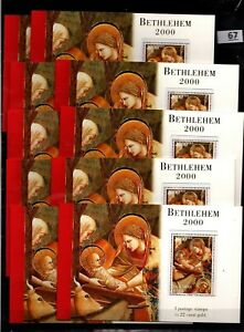 / 10X PALESTINE 1999 - MNH - BOOKLETS - CHRISTMAS, PAINTING, RELIGION