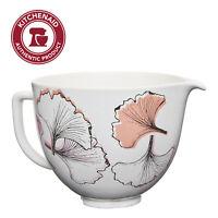 KitchenAid 5 Quart Gingko Leaf Ceramic Bowl, KSM2CB5PGG