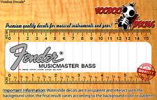Fender Music Master (Grey Logo) Restoration Waterslide Decal