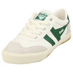 Gola Badminton Womens Off White Green Casual Trainers - 5 US