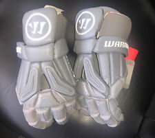 """Warrior BURN PRO GLOVE Medium 12"""" Lax Lacrosse Gray Gloves New With Tags Nwt"""