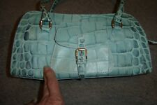 """DOONEY & BOURKE -NEW WITHOUT TAGS, PETITE """"LIGHT GREEN CROCO PURSE"""", MINT!!!!"""