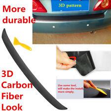 For 2015 2016 2017 2018 Subaru WRX / STI 3D Carbon Fiber Rear Bumper Overlay